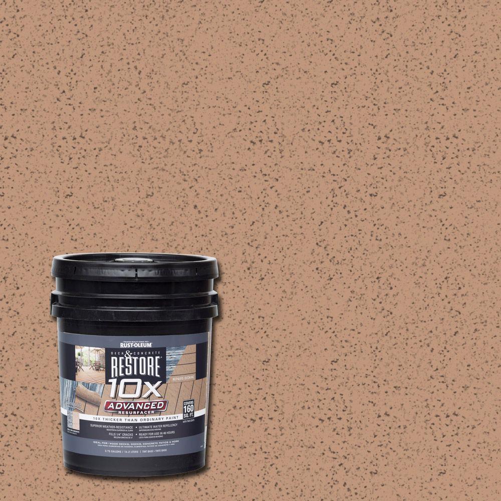 Rust-Oleum Restore 4 gal. 10X Advanced Buckskin Deck and Concrete Resurfacer