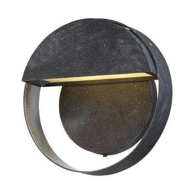 Espirit Del Sol Medium 1-Light Gilded Iron with Silver Highlights LED Outdoor Light Sconce