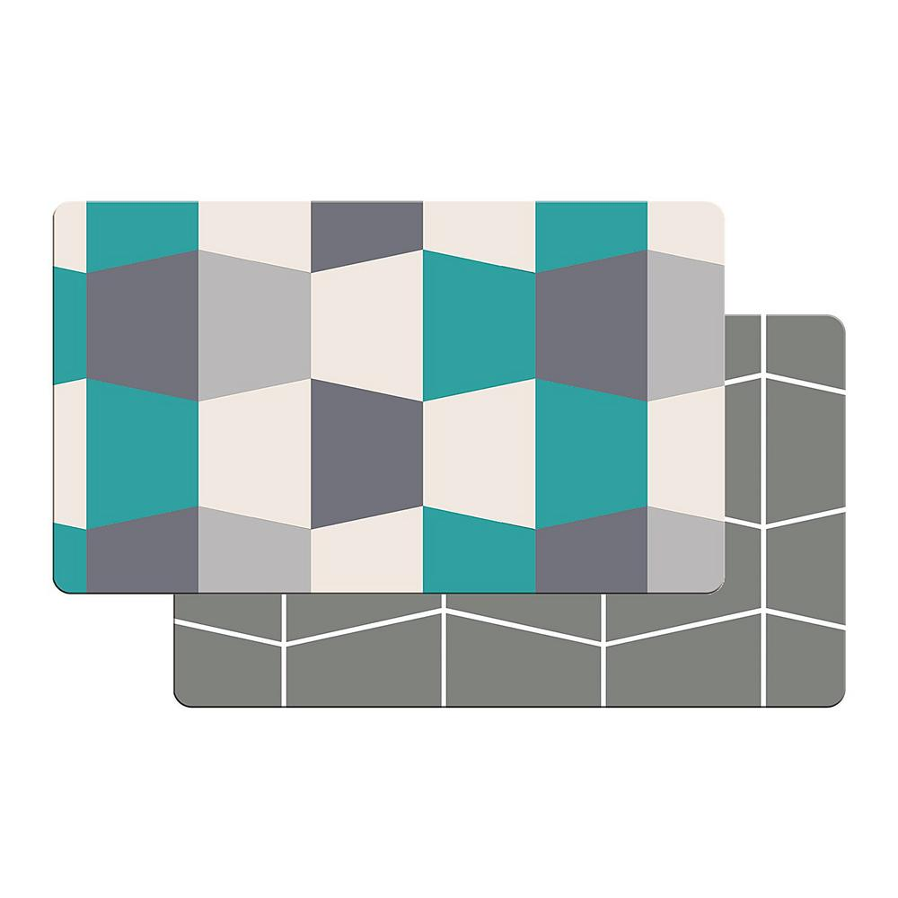 Art3d Premium Reversible Memory Foam 18 in. x 30 in. Anti-Fatigue Kitchen  Mat