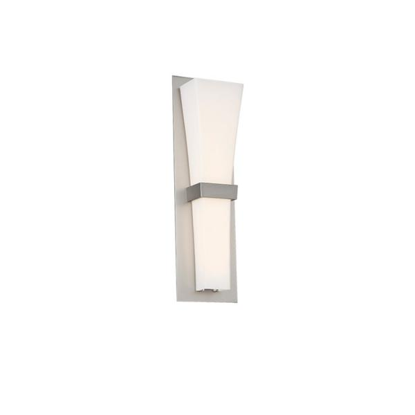 Prohibition 20 in. Satin Nickel LED Vanity Light Bar and Wall Sconce, 3000K
