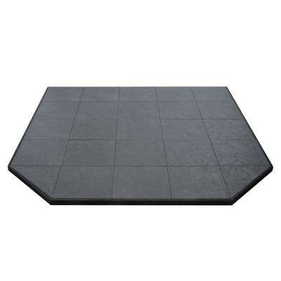 Boxed Hearth Pad Kit 60 in. Corner/Square Volcanic Sand
