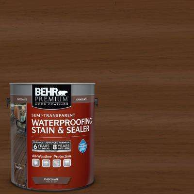 1 Gal. Chocolate Semi-Transparent Color Waterproofing Stain and Sealer
