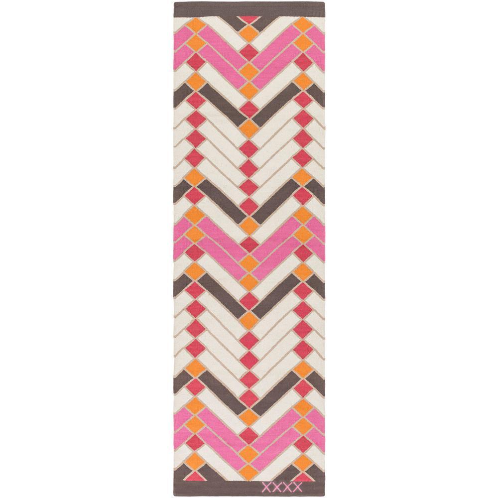 Labin Bright Pink 3 ft. x 8 ft. Indoor Runner Rug