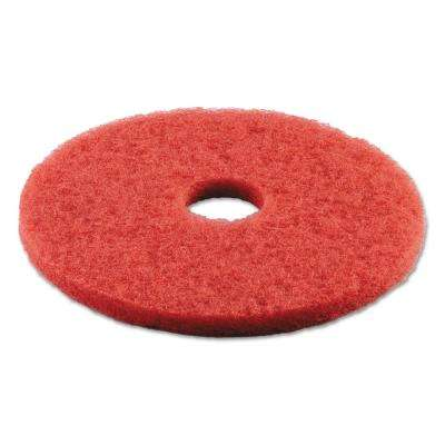 16 in. Dia Standard Buffing Red Floor Pad (Case of 5)
