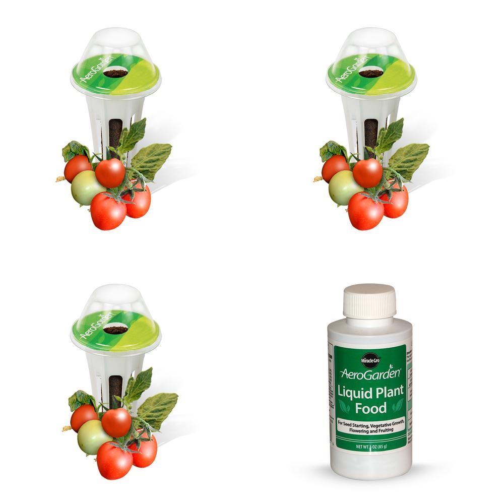 Aerogarden Pods Home Depot: AeroGarden 3-Pod Mighty Mini Cherry Tomato Seed Kit-800411