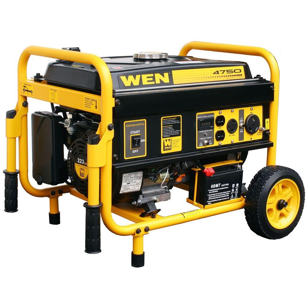 WEN 4750-Watt Gasoline Powered Portable Generator with Electric Start