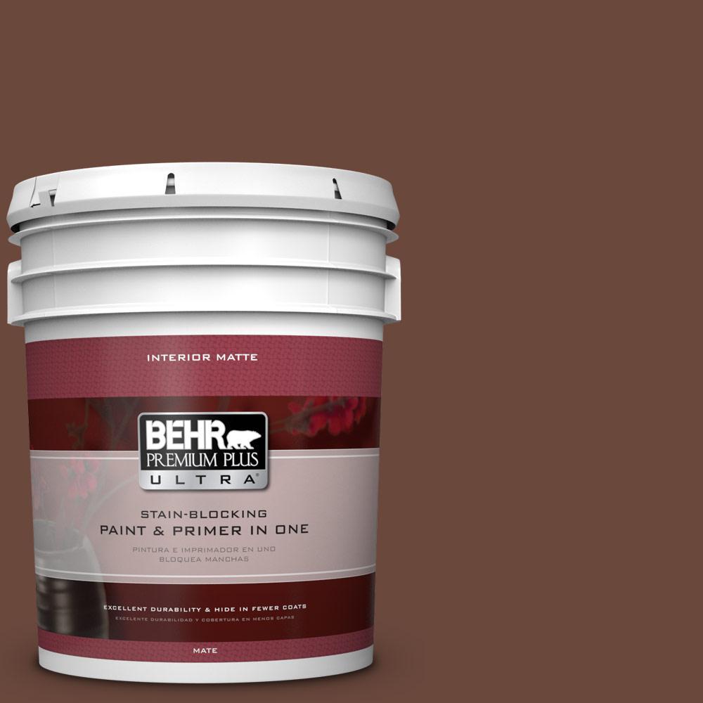 5 gal. #BXC-45 Classic Brown Matte Interior Paint