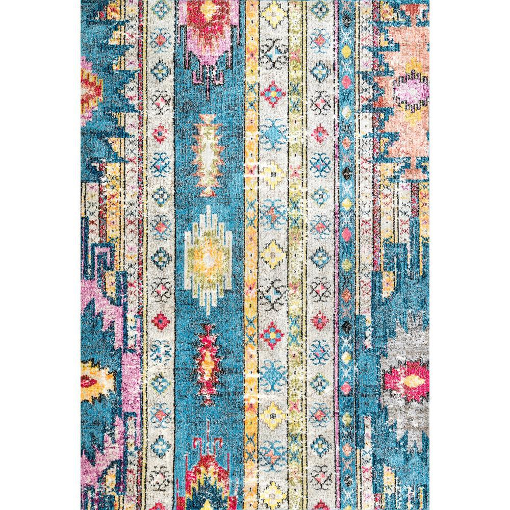 Nuloom Bohemian Jennifer Blue 4 Ft X 6 Ft Area Rug