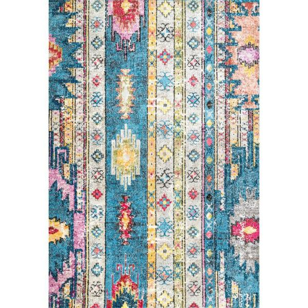 Bohemian Blue 8 Ft X 10 Area Rug