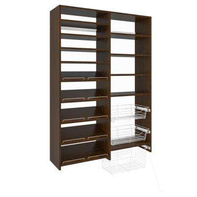 72 in. H x 50 in. W Vanilla Bean Garage Baskets and Shelving Storage Kit