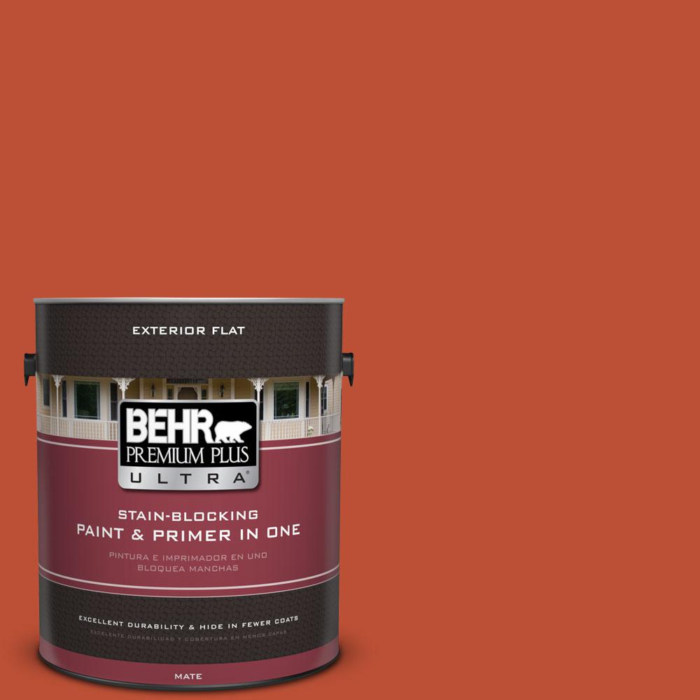BEHR Premium Plus Ultra 1-gal. #S-G-200 Glowing Firelight Flat Exterior Paint