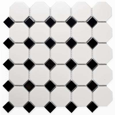 Mosaic 1 in. x 2 in. Hexagon Gray Porcelain Peel and Stick Decorative Bathroom Wall Tile Backsplash (22 Sq. ft./Case)
