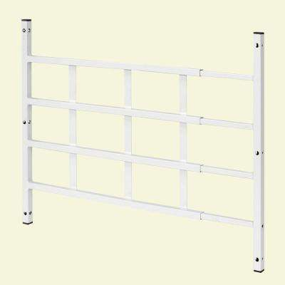 31 in., White, Carbon Steel, Fixed 4-Bar Window Grill