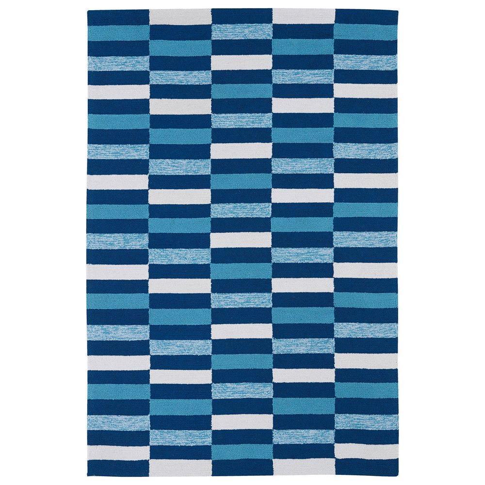 Kaleen Matira Blue 7 ft. 6 in. x 9 ft. Indoor/Outdoor Area Rug