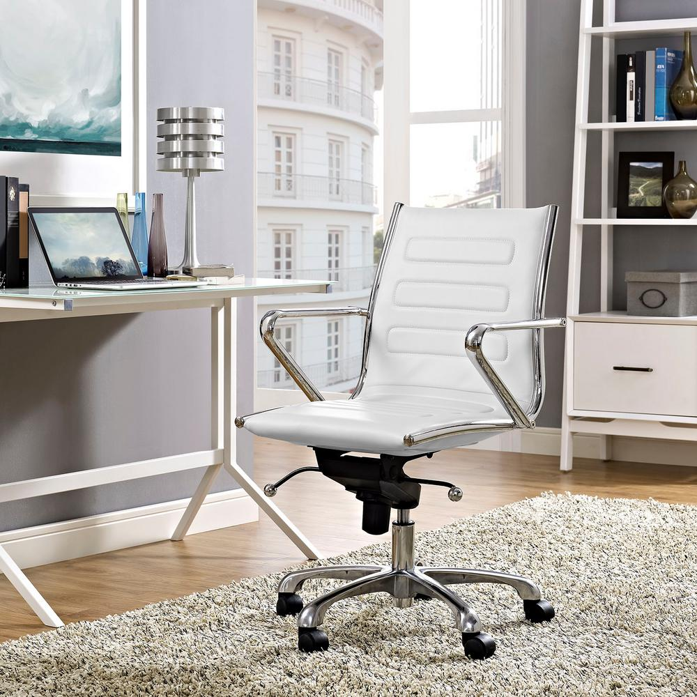 Ascend Mid Back Office Chair in White