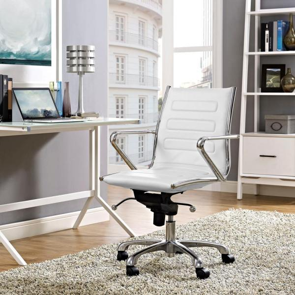 MODWAY Ascend Mid Back Office Chair in White EEI-2214-WHI