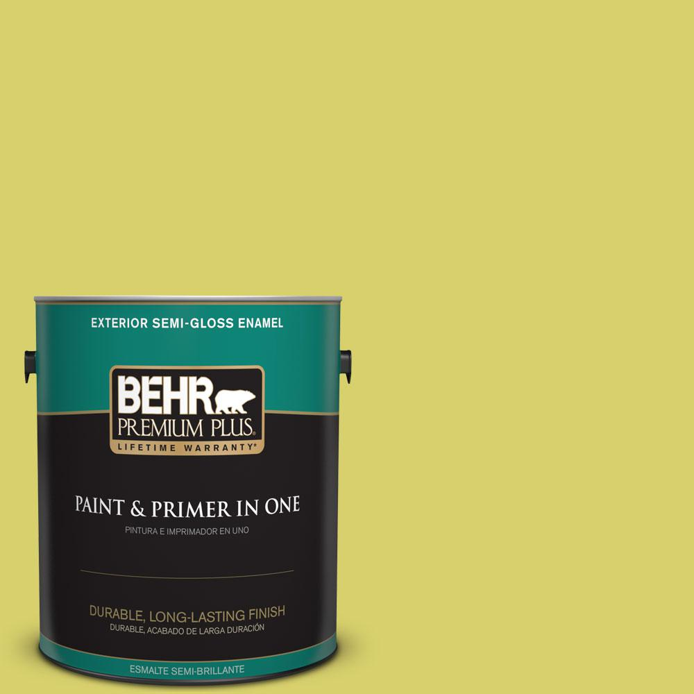 1-gal. #P340-4 Lime Tree Semi-Gloss Enamel Exterior Paint