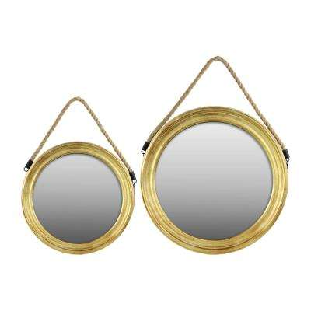 Round Gold Metallic Mirror