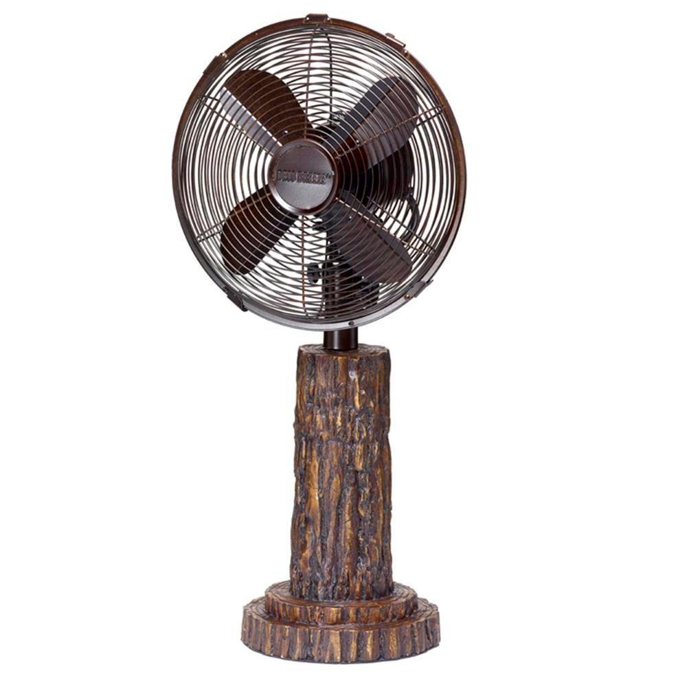 10 in. Fir Bark Table Fan