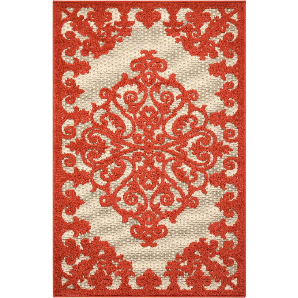 Aloha Red 2 ft. 8 in. x 4 ft. Indoor/Outdoor Accent