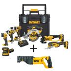 20-Volt MAX Li-Ion Cordless Combo Kit (7-Tool) with ToughSystem with Bonus Bare 20-V Li-Ion Cordless Reciprocating Saw