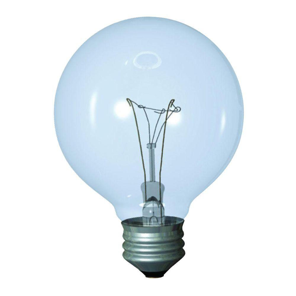 40-Watt Incandescent G25 Globe Reveal Clear Light Bulb (3-Pack)