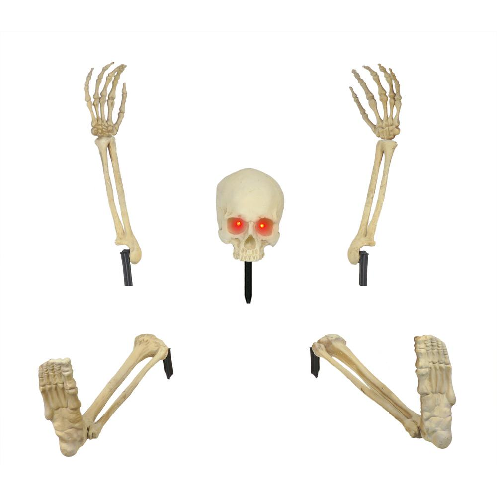 skeleton ground breaker with led including head and hands and legs set