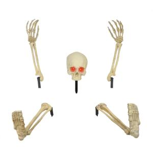 Home accents holiday 20 in skeleton ground breaker with for Home depot halloween decorations 2013