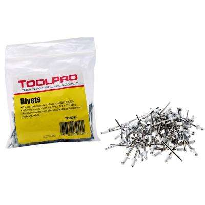 1/8 in. White Aluminum Pull Rivets (100-Pieces)