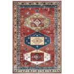 Novah Panelled Tribal Rust 8 ft. x 10 ft. Area Rug