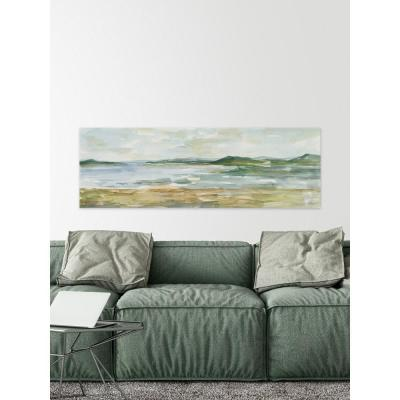 """15 in. H x 45 in. W """"Panoramic Seascape I"""" by Marmont Hill Canvas Wall Art"""