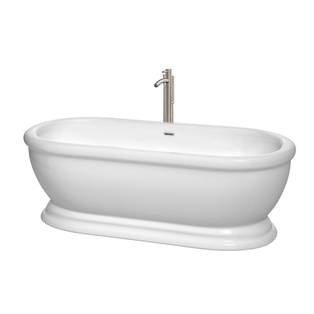 Wyndham Collection Mary 5.7 Ft. Acrylic Classic Flatbottom