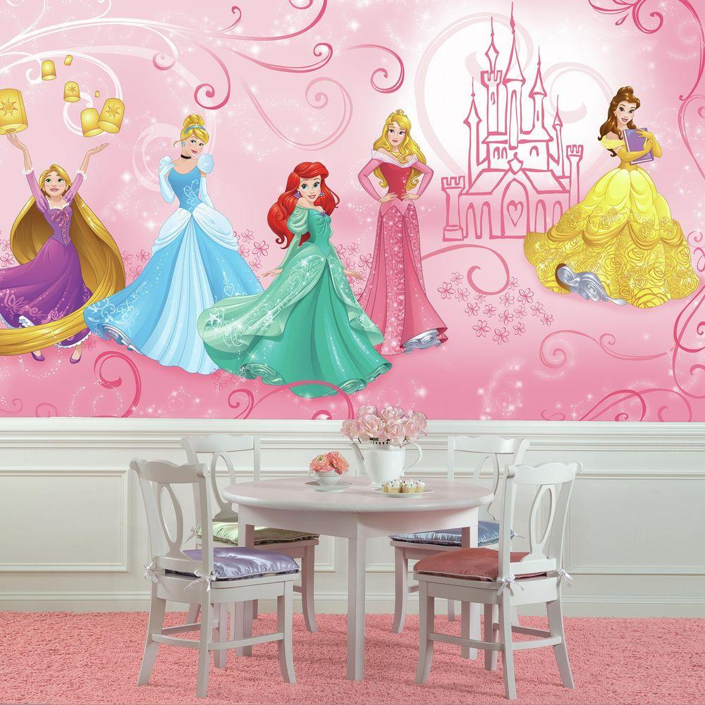 Roommates 72 In W X 126 In H Disney Princess Enchanted