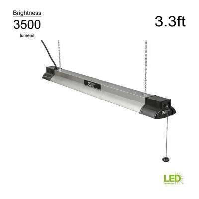 Smart Home Compatible 4000K 3.3 ft. White Integrated LED Shop Light with Bluetooth Speakers