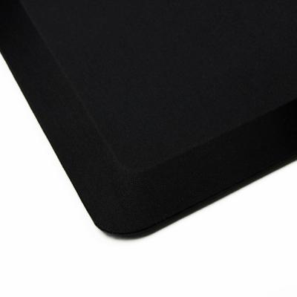 Black Standing Comfort Mat Luxury Anti-Fatigue Mat for 16 in. x 24 in.