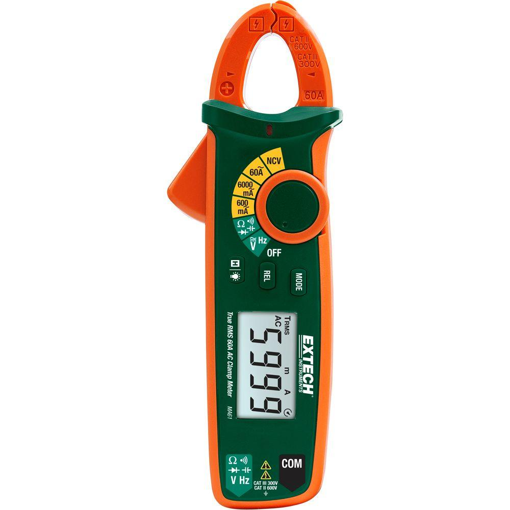 Extech True RMS 60A AC Clamp Meter with NCV