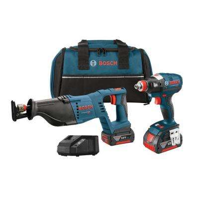 18-Volt Lithium-Ion Cordless Electric Socket-Ready Impact Driver and Reciprocating Saw Combo Kit (2-Tool)