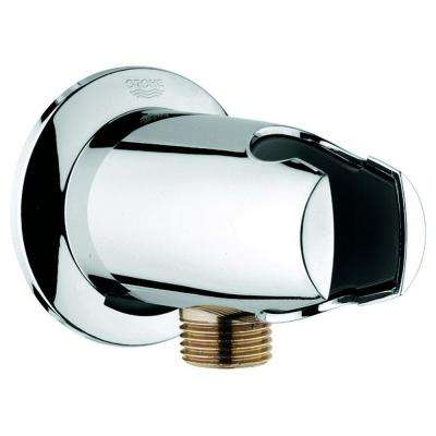 Movario Wall Union in StarLight Chrome for Shower Hose