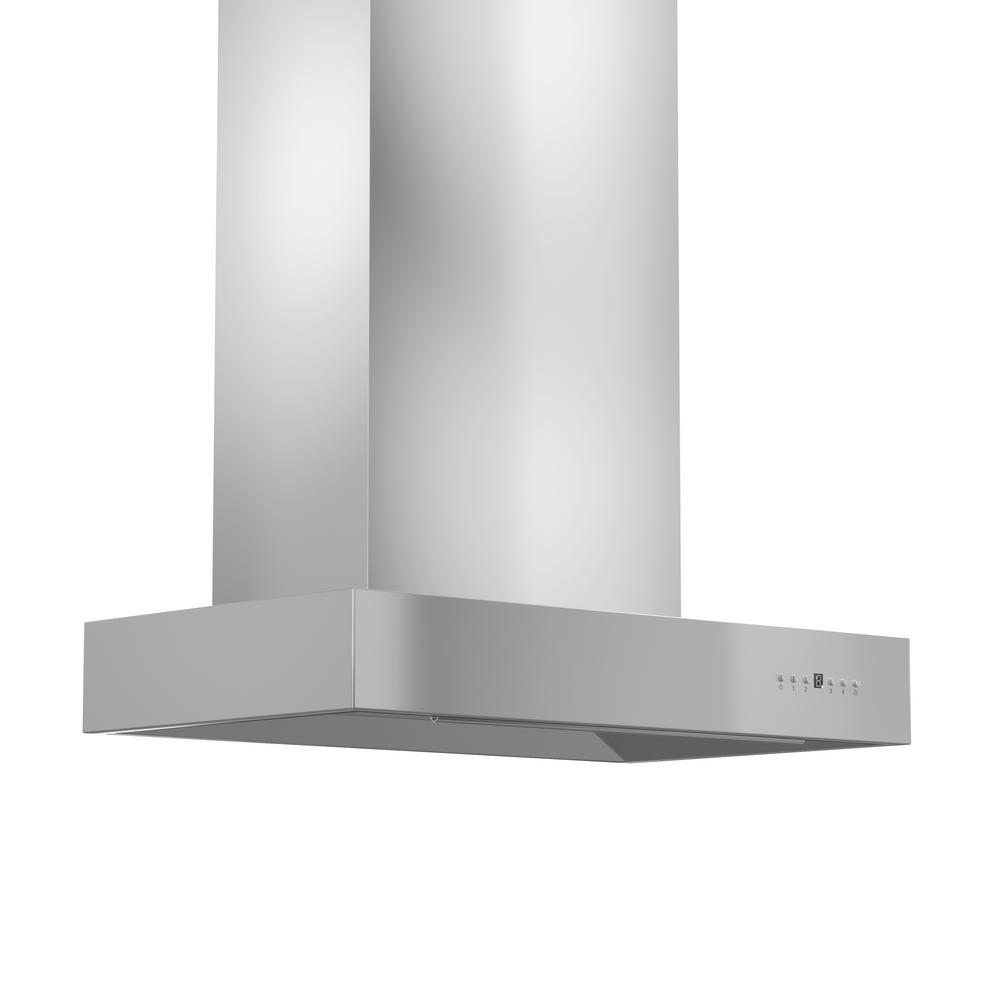 ZLINE Kitchen and Bath ZLINE 36 in. 900 CFM Wall Mount Range Hood in Stainless Steel with Remote Single Blower