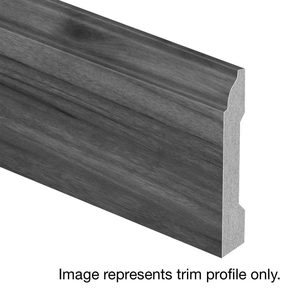 Zamma Grey Prestige Oak 9/16 in. Thick x 3-1/4 in. Wide x 94 in. Length Laminate Base Molding