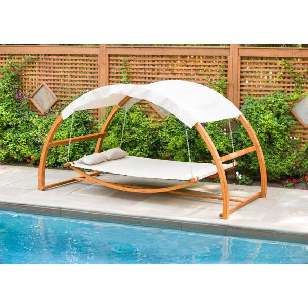 Leisure Season Patio Swing Bed With, Patio Swing Home Depot