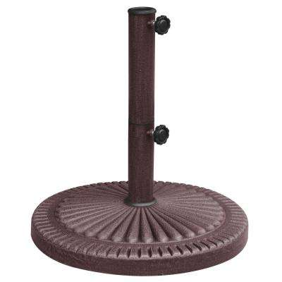 66 lb. Weather-Resistant Patio Umbrella Base in Bronze Resin