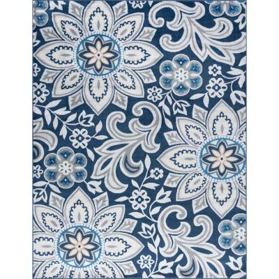 Madison Navy 5 ft. x 7 ft. Area Rug
