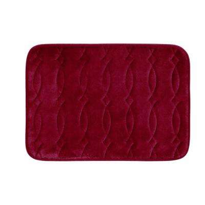 Grecian Red 17 in. x 24 in. Memory Foam Bath Mat