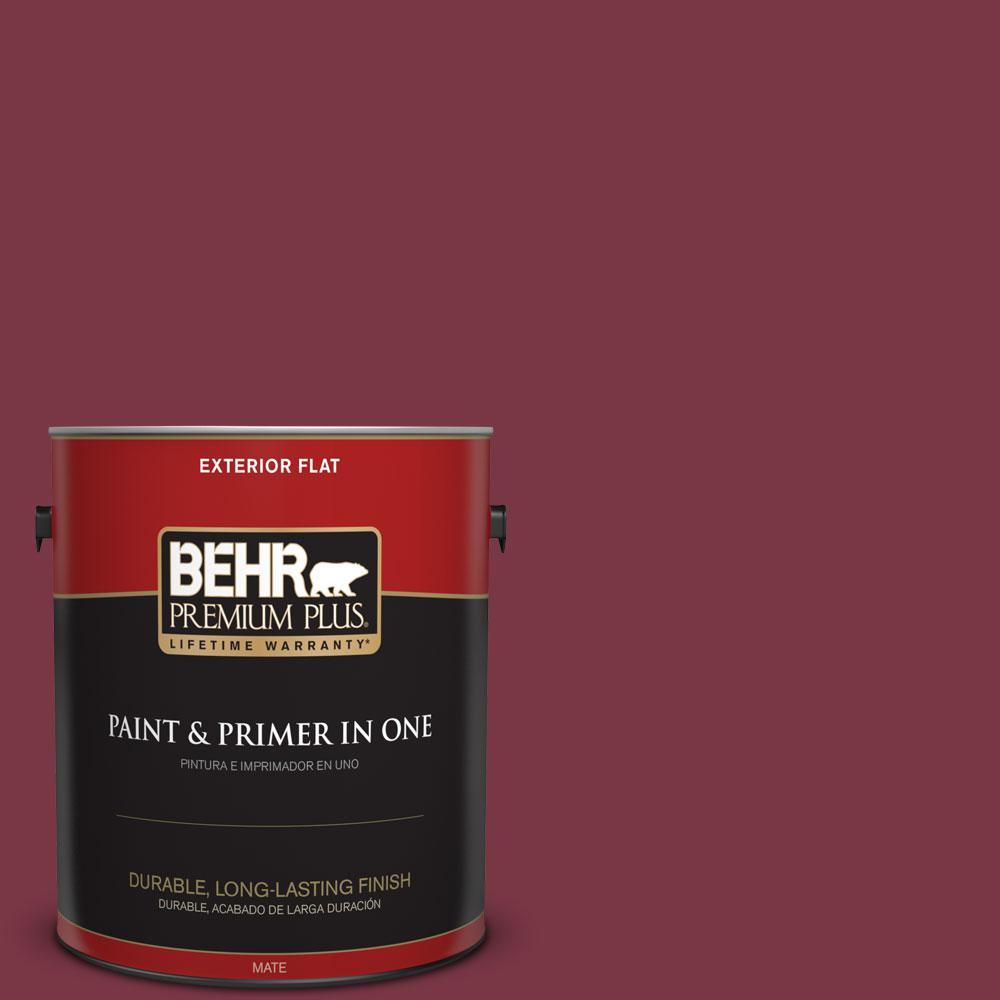 BEHR Premium Plus 1-gal. #S-H-110 Wine Tasting Flat Exterior Paint, Reds/Pinks