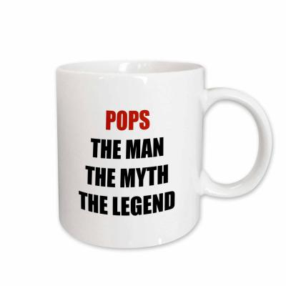 BrooklynMeme Father's Day Pops the Man the Myth the Legend 11 oz. White Ceramic Coffee Mug
