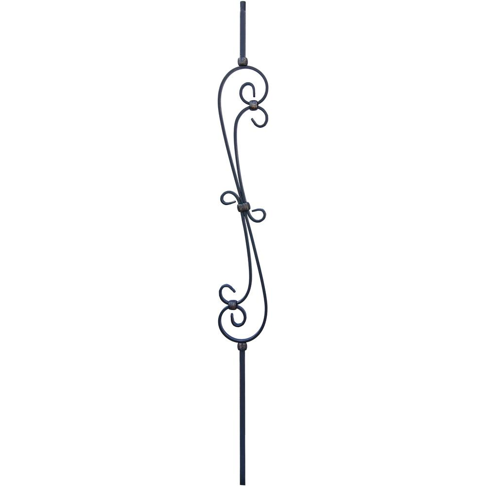 1/2 in. x 44 in. Oil Rubbed Bronze Double Feather Scroll