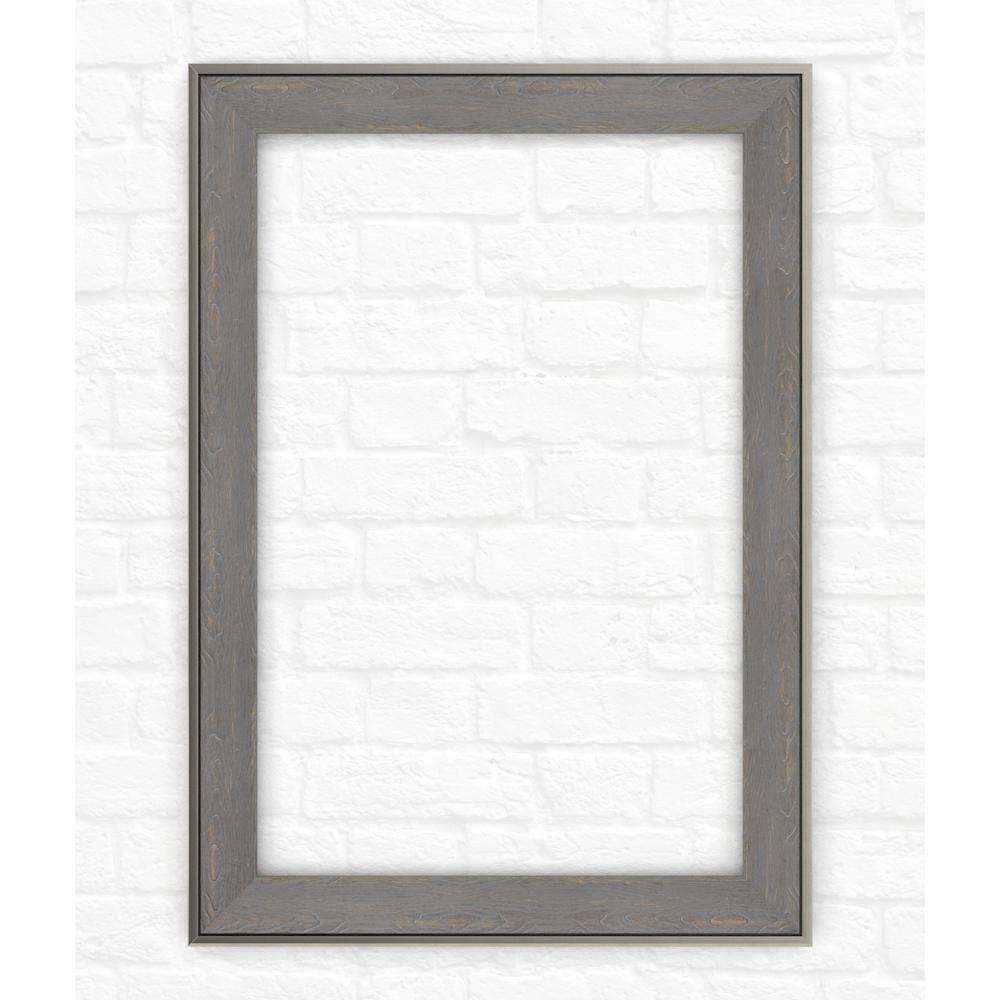 33 in. x 47 in. (L1) Rectangular Mirror Frame in Weathered