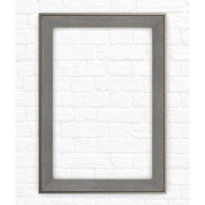 33 in. x 47 in. (L1) Rectangular Mirror Frame in Weathered Wood