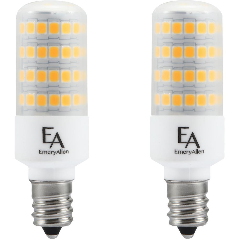 60-Watt Equivalent E12 Base Dimmable 3000K LED Light Bulb Soft White (2-Pack)